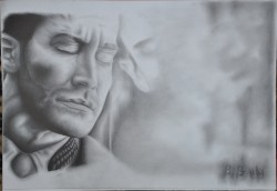 Picturi in creion / carbune Jake gyllenhaal