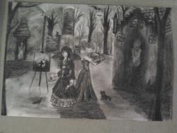 Picturi in creion / carbune Gothic world