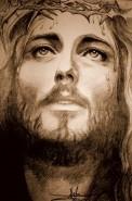 Picturi in creion / carbune Crist