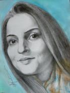 Picturi in creion / carbune Diana