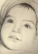 Picturi in creion / carbune Nuria