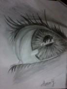Picturi in creion / carbune Oglinda sufletului