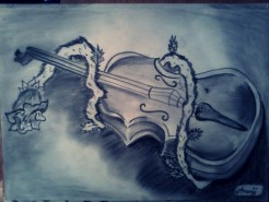 Picturi in creion / carbune Vioara