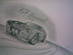 Picturi in creion / carbune The legend