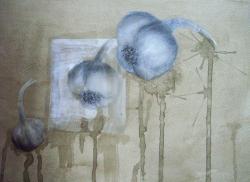 Picturi in creion / carbune Natura statica-usturoi