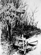 Picturi in creion / carbune Barci