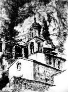 Picturi in creion / carbune Biserica