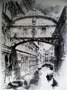 Picturi in creion / carbune Venice
