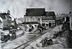 Picturi in creion / carbune Turda-Centru 1889