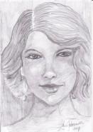Picturi in creion / carbune Portret fata