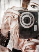 Picturi in creion / carbune Fotograf