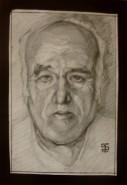 Picturi in creion / carbune Portrait of my grandfather
