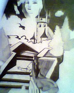 Picturi in creion / carbune Luceafar
