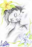 Picturi in creion / carbune In youre arms