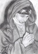 Picturi in creion / carbune Praying
