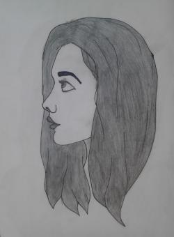 Picturi in creion / carbune Fata1