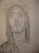 Picturi in creion / carbune Iisus