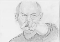 Picturi in creion / carbune Steve