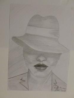 Picturi in creion / carbune Ochii din umbra