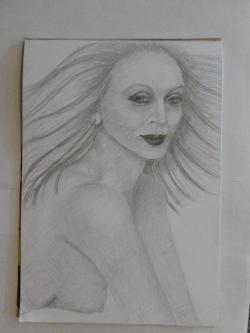 Picturi in creion / carbune Raza de soare