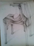 Picturi in creion / carbune Schita 2