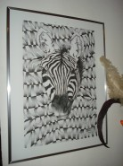 Picturi in creion / carbune Africa zebra