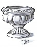 Picturi in creion / carbune Vasul