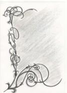 Picturi in creion / carbune Oglinda