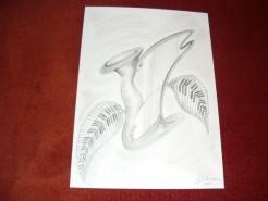 Picturi in creion / carbune Simfonia florilor 2