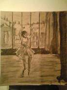 Picturi in creion / carbune Balerina reproducere degas