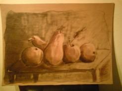 Picturi in creion / carbune Mere