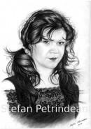Picturi in creion / carbune Portret femeie 1