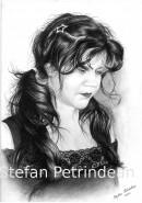 Picturi in creion / carbune Portret femeie 2