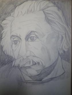 Picturi in creion / carbune Einstein