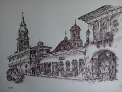 Picturi in creion / carbune Iasi 1845
