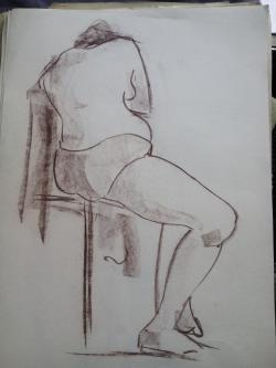 Picturi in creion / carbune st 11 anii 70
