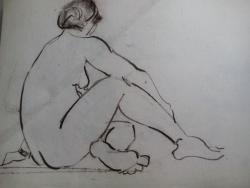 Picturi in creion / carbune st 14 anii 70