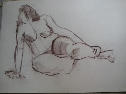 Picturi in creion / carbune st 24 anii 70