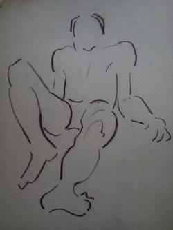 Picturi in creion / carbune st 26 anii 70