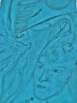 Picturi in creion / carbune Ganduri