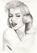 Picturi in creion / carbune Marilyn