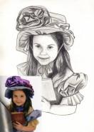 Picturi in creion / carbune Portret 1