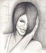 Picturi in creion / carbune Rihanna i