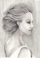 Picturi in creion / carbune Sarah