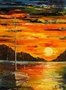 Picturi maritime navale Rasarit