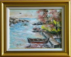 Picturi maritime navale IESIRE SPRE LARG