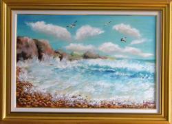 Picturi maritime navale Peisaj de mare