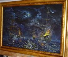 Picturi maritime navale Atacul piratilor