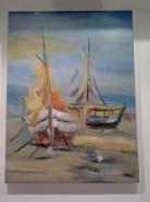 Picturi maritime navale Barci pe tarm