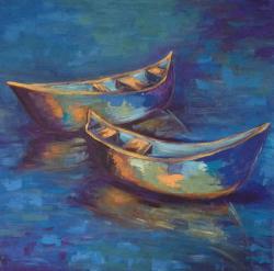 Picturi maritime navale Doua barci 1